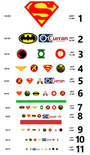 Curran Superhero eyechart